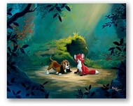 Fox and the Hound Artwork Fox and the Hound Artwork New Found Friend in the Forest