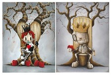 Fabio Napoleoni Fabio Napoleoni King of Hearts and Queen of Broken Hearts (PP) (Super Duper Set) Canvas