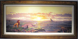 Lion King Artwork Lion King Artwork Kingdom Pride (Framed)