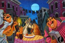 Lady and The Tramp Artwork Lady and The Tramp Artwork L'Amour