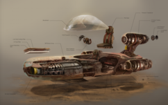 Star Wars Artwork Star Wars Artwork Landspeeder Exploded View (M)