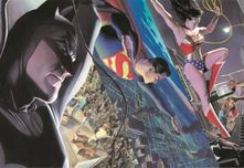 Alex Ross Comic Art Alex Ross Comic Art Liberty and Justice: Trinity (Mini Canvas)