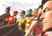 Alex Ross Comic Art Alex Ross Comic Art Liberty and Justice: JLA (Mini Canvas)