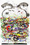 Tom Everhart Prints Tom Everhart Prints Little Fancy - Blue (Framed)