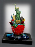 Charles Fazzino 3D Art Charles Fazzino 3D Art Little Bronze NY Apple (Sculpture)