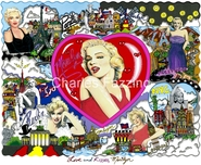 Charles Fazzino 3D Art Charles Fazzino 3D Art Love and Kisses, Marilyn (SN)