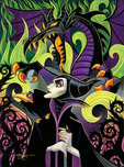 Sleeping Beauty Artwork Sleeping Beauty Artwork Maleficent's Fury (Premiere) (Chiarograph)
