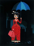 Mary Poppins Artwork Mary Poppins Artwork Mary's Umbrella