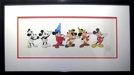 Mickey Mouse Artwork Mickey Mouse Artwork Mickey Mouse through the Years (Framed)
