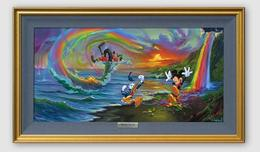 Mickey Mouse Artwork Mickey Mouse Artwork Mickey and the Boys at Rainbow Falls