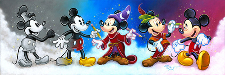 Fantasia Artwork Fantasia Artwork Mickey's Creative Journey