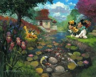 Mickey Mouse Artwork Mickey Mouse Artwork Mickey's Koi Pond (New)