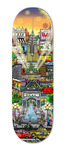 Charles Fazzino 3D Art Charles Fazzino 3D Art Misty Memories Skateboard Deck (Sculpture)