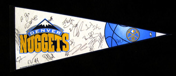 Sports Memorabilia & Collectibles Sports Memorabilia & Collectibles Denver Nugget Pennant