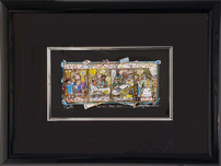 Charles Fazzino 3D Art Charles Fazzino 3D Art Nurses Have Heart (PR) - Framed
