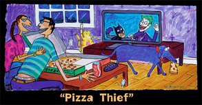 Batman Animation Artwork  Batman Animation Artwork  Pizza Thief