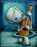 Fabio Napoleoni Fabio Napoleoni Playing on My Heart Strings (OE) Mini Print (Framed)