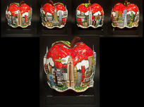 Charles Fazzino 3D Art Charles Fazzino 3D Art Pop Goes The Red Apple - Sculpture