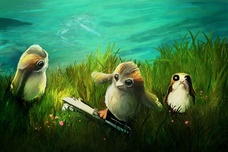 Star Wars Artwork Star Wars Artwork Porgs at Play