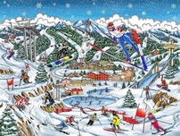 Charles Fazzino 3D Art Charles Fazzino 3D Art PyongChang, Korea Olympic Games 2018 (DX)
