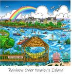 Charles Fazzino 3D Art Charles Fazzino 3D Art The South Carolina Series: Rainbow Over Pawley's Island (DX)