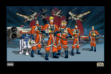 Star Wars Artwork Star Wars Artwork Red Squadron