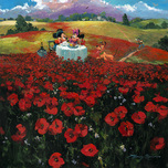 Mickey Mouse Artwork Mickey Mouse Artwork Red Poppies