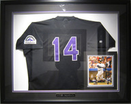Sports Memorabilia & Collectibles Sports Memorabilia & Collectibles Colorado Rockies Signed Jersey - Framed