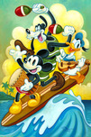 Mickey Mouse Artwork Mickey Mouse Artwork Surf Trio