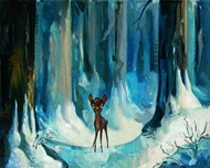 Harry Potter Artwork Harry Potter Artwork Alone in the Woods - Bambi