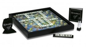 Charles Fazzino 3D Art Charles Fazzino 3D Art 3D Scrabble - World Edition - Framed