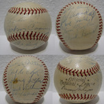Sports Memorabilia & Collectibles Sports Memorabilia & Collectibles Baseball Signed by Hank Aaron & 20 Other Milwaukee Braves Players