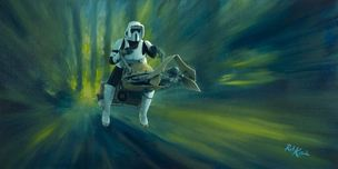 Star Wars Artwork Star Wars Artwork Speeder Chase (SN)