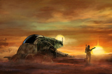 Star Wars Artwork Star Wars Artwork Sun Sets