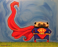 Superman Artwork Superman Artwork Super Pug