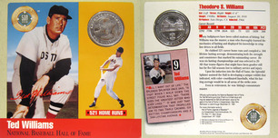 Sports Memorabilia & Collectibles Sports Memorabilia & Collectibles Ted Williams Silver Coin