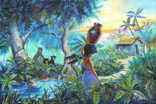 Jungle Book Artwork Jungle Book Artwork The Girl by the Stream