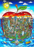 Charles Fazzino 3D Art Charles Fazzino 3D Art The Sun Shines Bright Over The Big Apple (AP)