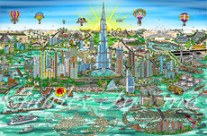 Charles Fazzino 3D Art Charles Fazzino 3D Art The Wonders of Dubai (DX)