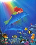 Little Mermaid Artwork Little Mermaid Artwork Underwater Dreams