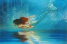 Little Mermaid Artwork Little Mermaid Artwork Underwater Princess