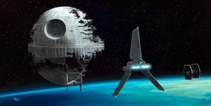 Star Wars Artwork Star Wars Artwork Vader's Shuttle (SN)
