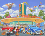 Mickey Mouse Artwork Mickey Mouse Artwork Walt's Drive-In (Deluxe)