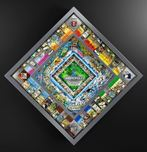 Charles Fazzino 3D Art Charles Fazzino 3D Art World Monopoly (Silver) - Framed