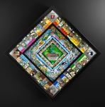 Charles Fazzino 3D Art Charles Fazzino 3D Art World Monopoly (Black) - Framed