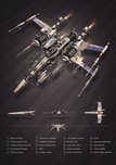 Star Wars Artwork Star Wars Artwork X-Wing Fighter Exploded View