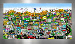 Charles Fazzino 3D Art Charles Fazzino 3D Art You're Going to Hollywood! (PR) (Black)