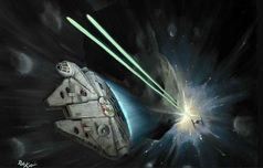Star Wars Artwork Star Wars Artwork Asteroid Run (SN)