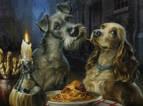 Lady and The Tramp Artwork Lady and The Tramp Artwork Bella Notte