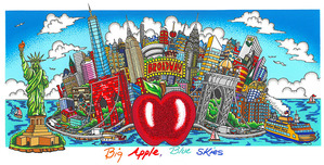 Charles Fazzino 3D Art Charles Fazzino 3D Art Big Apple, Blue Skies (AP)